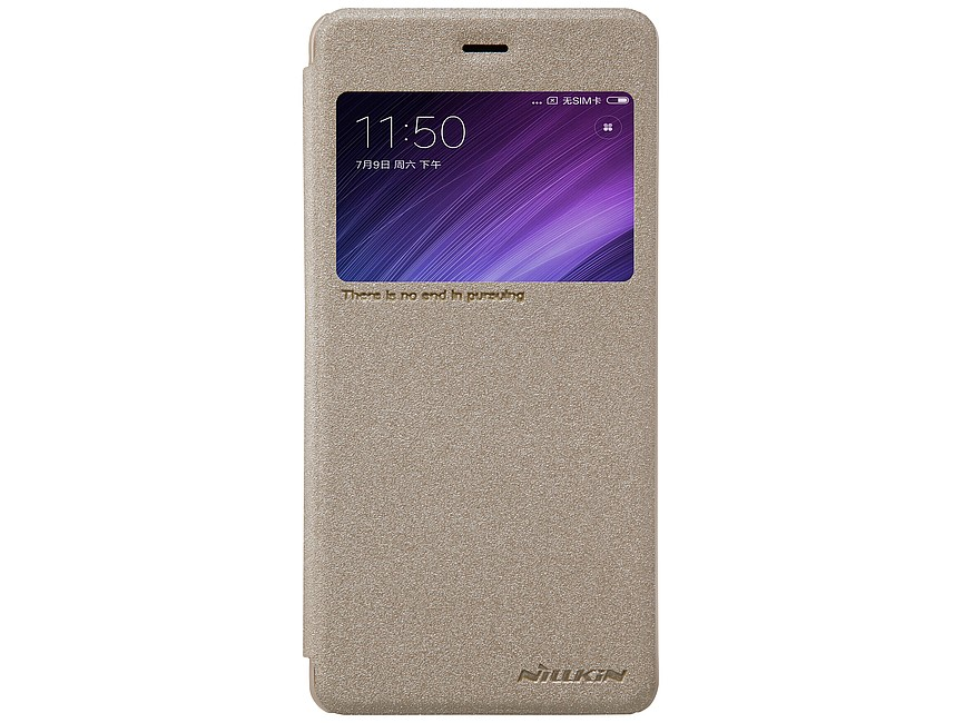 Чехол книжка NILLKIN Sparkle Gold  Redmi 4 32gb